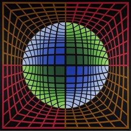 """Isom 1986"", 1978 - Victor Vasarely (Pécs, Hungría, 1908 - París"