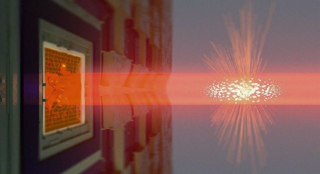 Establecida comunicación entre dos grandes objetos cuánticos diferentes