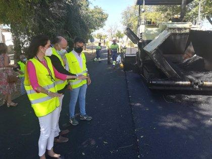 Remozadas integralmente las travesías y accesos a La Campana (Sevilla) y previsto el repintado de su señalización vial