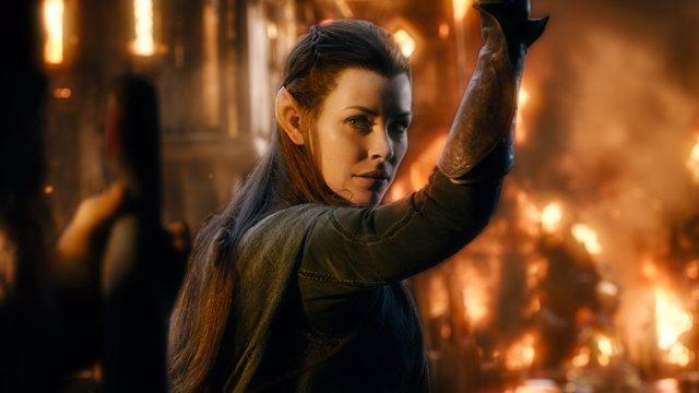 Evangeline Lilly (Tauriel) en la serie de El Señor de los Anillos