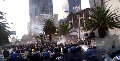 Disturbios en una manifestación a favor del aborto en México
