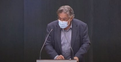Pepu Hernández sigue el Pleno a distancia por encontrarse en cuarentena preventiva