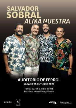 Salvador Sobral actuará en Ferrol el próximo 24 de octubre