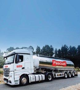 Camión de reparto de Pascual.