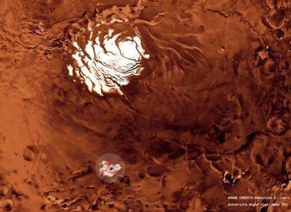 Una red de lagos salados puede esconderse bajo el polo sur de Marte