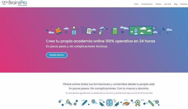 Página web de BrainsPro