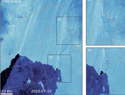 Señales previas a la desintegración en grandes glaciares antárticos
