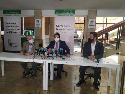 El hospital de la Montaña de Cáceres albergará el PAC y los centros de salud de Zona Centro y Plaza de Argel
