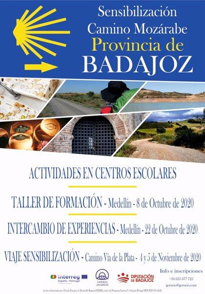 Una campaña de la Diputación de Badajoz difundirá el Camino Jacobeo Mozárabe entre escolares y empresarios