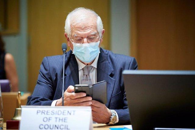 Josep Borrell, en una comparecencia en Bruselas