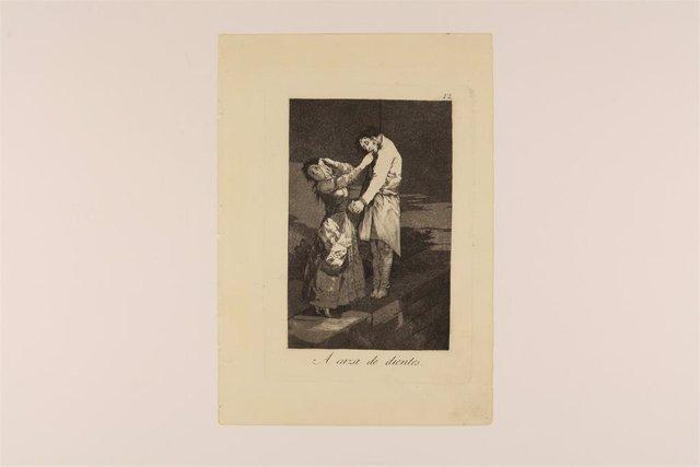 Un grabado de la muestra sobre Goya en la Real Academia de Bellas Artes de San Fernando