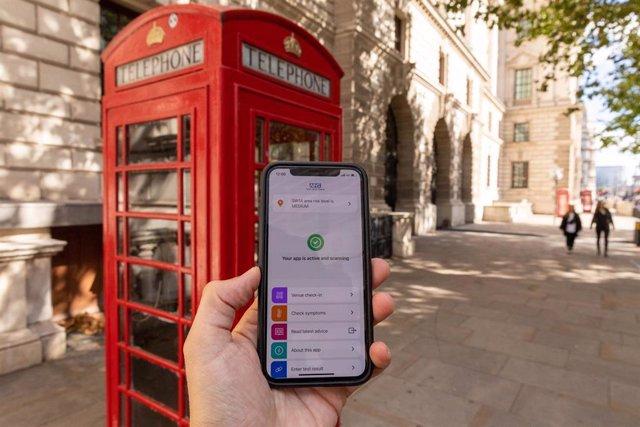 Aplicación para el rastreo de contactos en Reino Unido