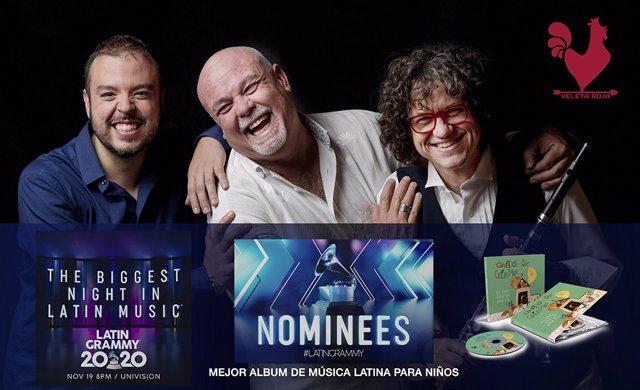 Los ciudadrealeños 'Veleta Roja' son nominados a los Grammy Latinos por su disco infantil 'Sonidos que cuentan'