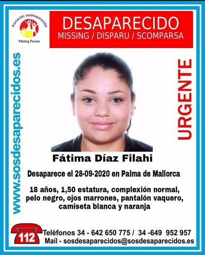 Alertan de la desaparición en Palma de una joven de 18 años