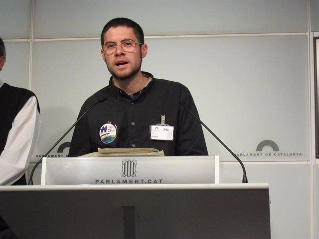 Joan Pons, portaveu de l'assemblea Aturem BCN World