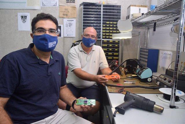 Antonio Javier García Sánchez y Joan García Haro, del grupo de investigación de Ingeniería Telemática de la UPCT