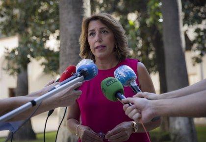"""Susana Díaz desconoce si habrá otros aspirantes a liderar el PSOE-A: """"Pedro Sánchez sabe que mi pasión es Andalucía"""""""