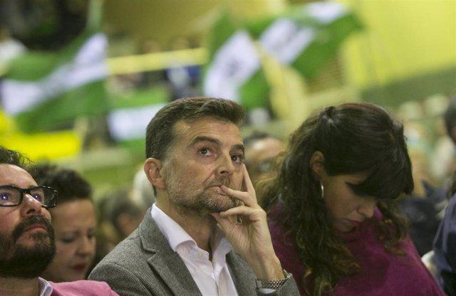El excoordinador de IU Andalucía, Antonio Maíllo