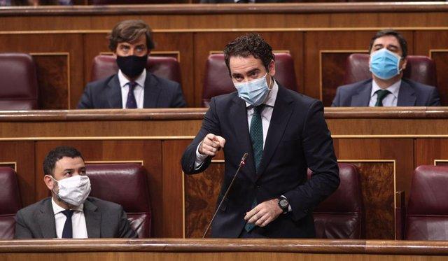 El portaveu parlamentari del PP, Teodoro García Egea, intervé en la sessió de control al Congrés dels Diputats. Madrid (Espanya), 30 de setembre del 2020.