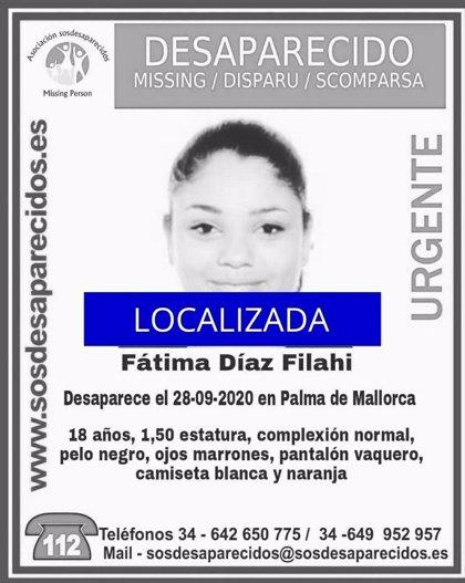 Localizan a la joven desaparecida el lunes en Palma