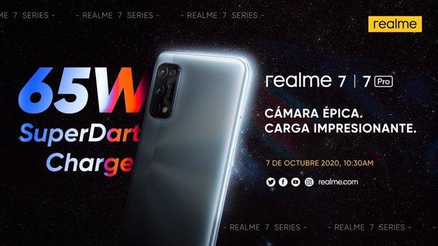 Realme presentará en España su serie 7 el próximo 7 de octubre