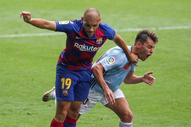 Fútbol.- Braithwaite recibe el alta y es novedad en la lista del Barça