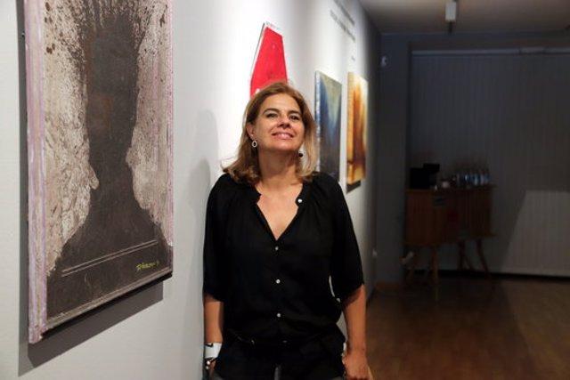 La presidenta de Galeries d'Art de Catalunya, Mònica Ramon, a 30 de setembre de 2020. (Horitzontal)