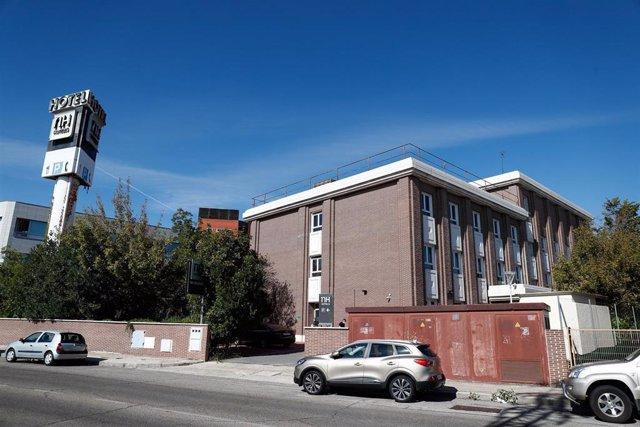 Fachada del Hotel NH Leganés, en Leganés, Madrid (España), a 25 de septiembre de 2020.  Este hotel es junto con el Hotel Vía Castellana uno de los dos que la Comunidad de Madrid está preparando para ser sanitarizado. Ambos se unirán al Hotel Ayre Colón, q