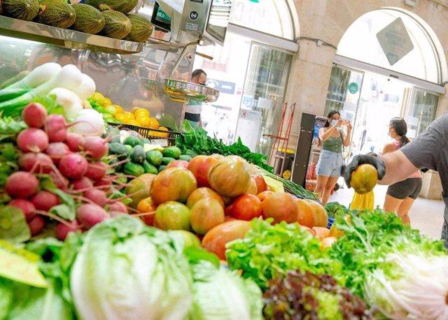 Fruta y verdura en el Mercado Central