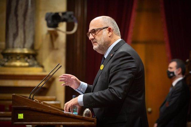 El portaveu de JxCat al Parlament, Eduard Pujol