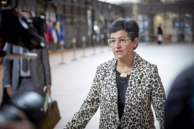 Arancha Gonzalez Laya en Bruselas