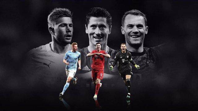 Fútbol.- De Bruyne, Lewandowski y Neuer optan este jueves al premio de 'Mejor Ju