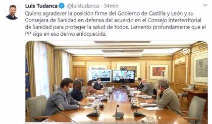 """Tudanca agradece la """"posición firme"""" de la Junta en el CISNS al apoyar la propuesta de medidas sanitarias"""