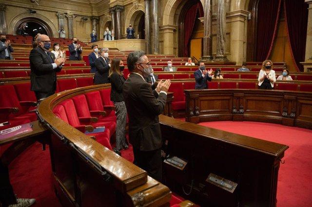 Ple del Parlament específic sobre la inhabilitació de l'expresident Quim Torra.