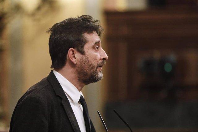 El diputado de Unidas Podemos Rafa Mayoral .