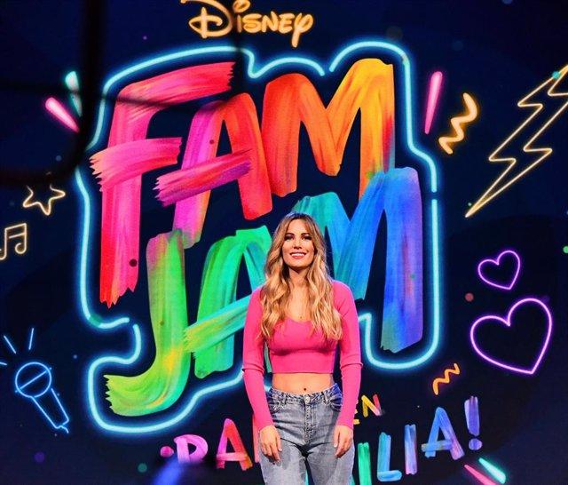 Edurne presenta Fam Jam en Disney Channel