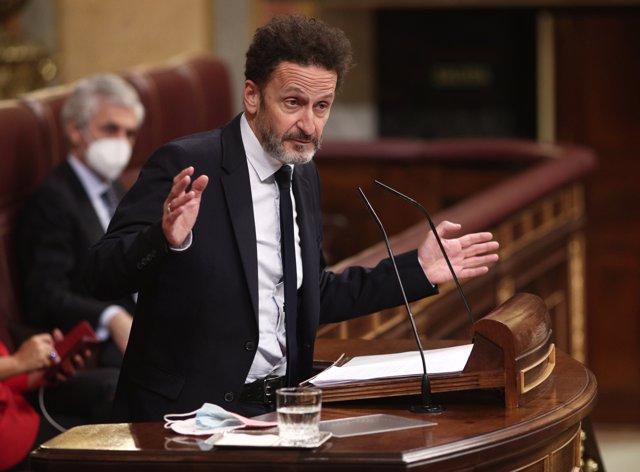 El portavoz adjunto de Ciudadanos en el Congreso de los Diputados, Edmundo Bal, interviene durante una sesión plenaria en el Congreso de los Diputados.