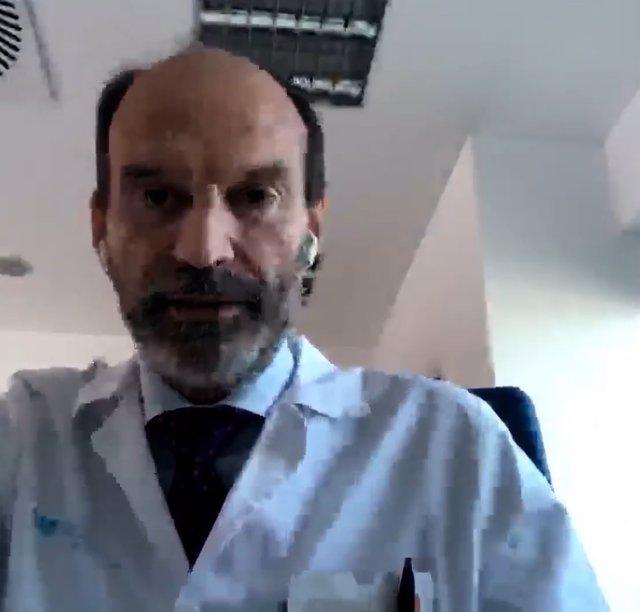 El presidente de la Fundación RetinaPlus+, José María Ruiz Moreno, durante la presentación del Estudio Objetivo DMAE (Degeneración Macular Asociada a la Edad).