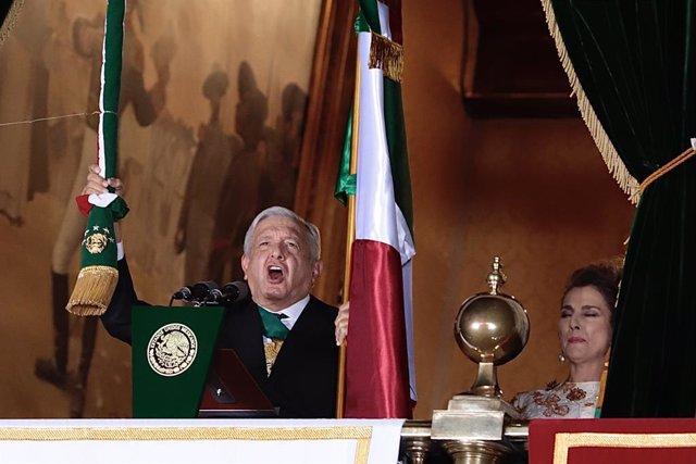15 September 2020, Mexico, Mexico City: Mexican President Andres Manuel Lopez Obrador