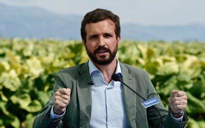 """Casado avisa que si España se queda """"rezagada"""" como apunta el FMI no bastarán las ayudas de UE: """"Eso sí es peligroso"""""""