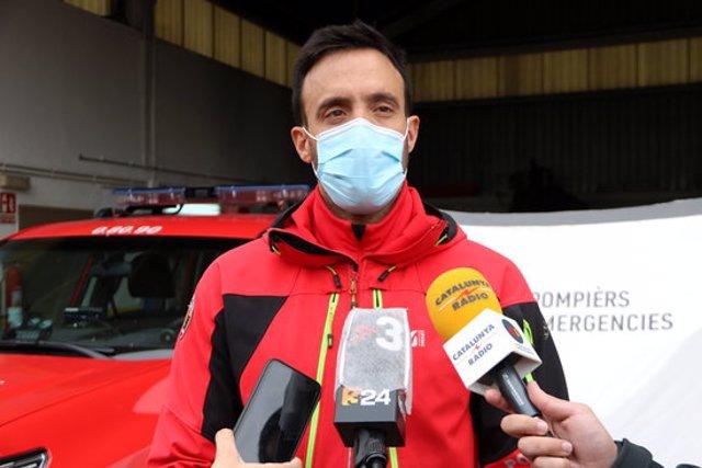 Pla mig de Juanmi Riu, responsable del Grup de Rescat de Muntanya de Pompièrs d'Aran. Imatge de l'1 d'octubre del 2020. (horitzontal)