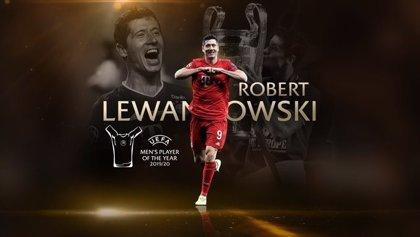 Lewandowski, 'Mejor Jugador de la UEFA 2019/20' en un festival de premios para el Bayern