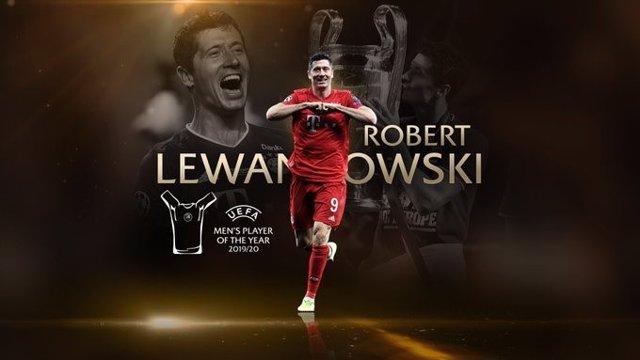 Fútbol/Champions.- Lewandowski, 'Mejor Jugador de la UEFA 2019/20' en un festiva