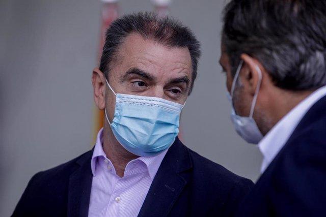 El delegado del Gobierno en Madrid, José Manuel Franco, y el consejero de Justicia, Interior y Víctimas, Enrique López