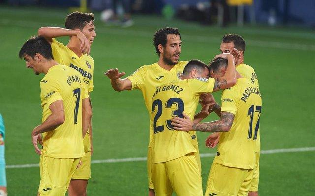 Fútbol/Liga Europa.- Villarreal, Real Sociedad y Granada conocen este viernes su