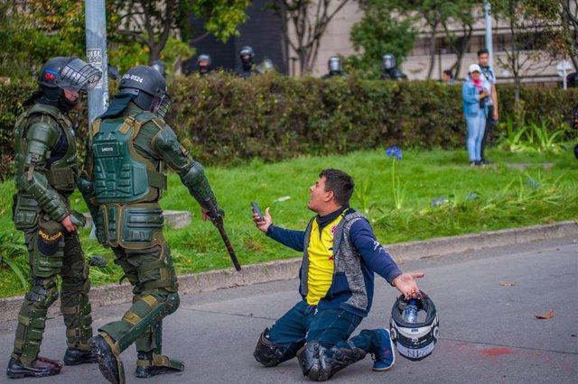 Una de las imágenes de la última huelga general celebrada en Colombia.