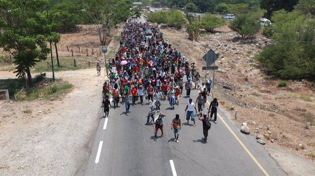 Migrants from Central America detained in Mexico