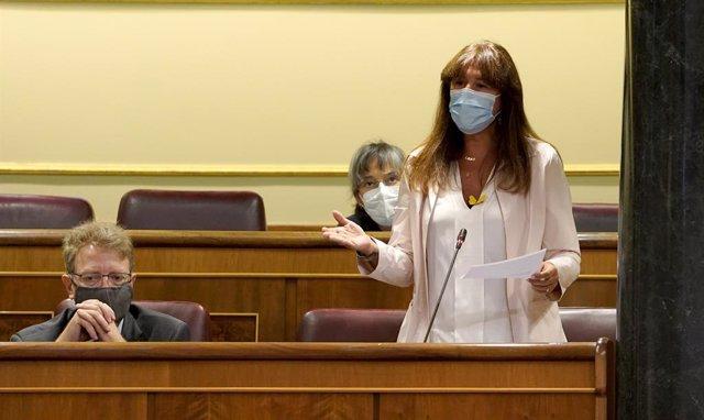 La portaveu parlamentària de JxCat, Laura Borràs, al Congrés dels Diputats. Madrid (Espanya), 23 de setembre del 2020.