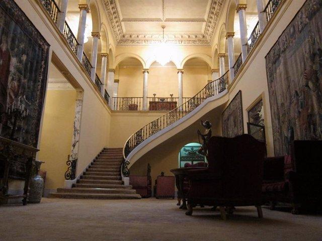Interior del palau de l'industrial Julio Muñoz Ramonet a Barcelona