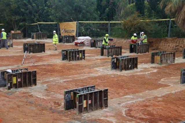 Pla general de les obres per construir el nou Espai Hospitalari Polivalent Parc Sanitari Pere Virgili. Imatge del 2/10/2020 (horitzontal)